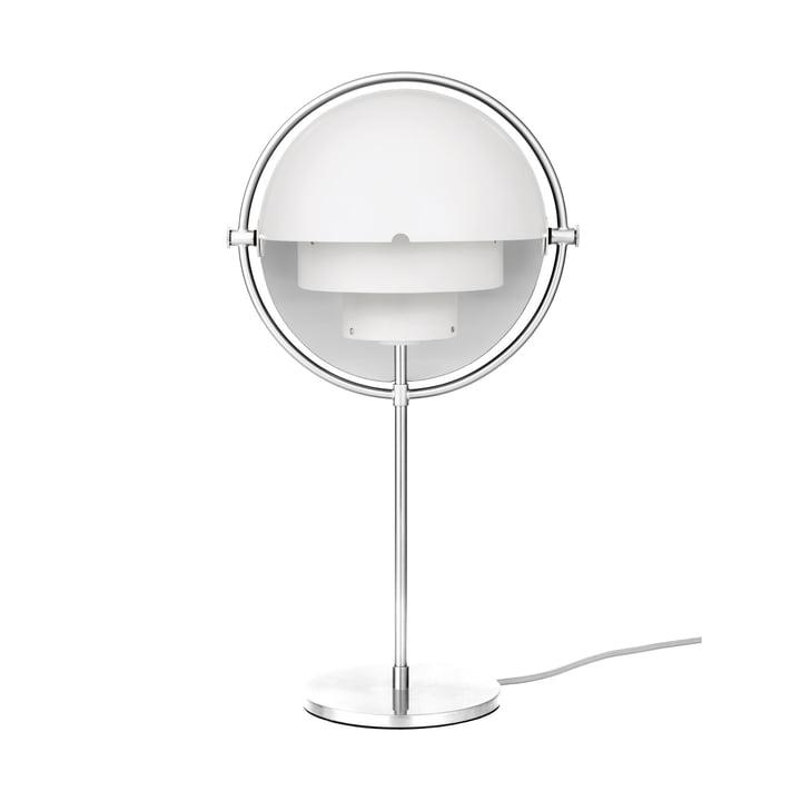 Multi-Lite Tischleuchte von Gubi in Chrom / weiß