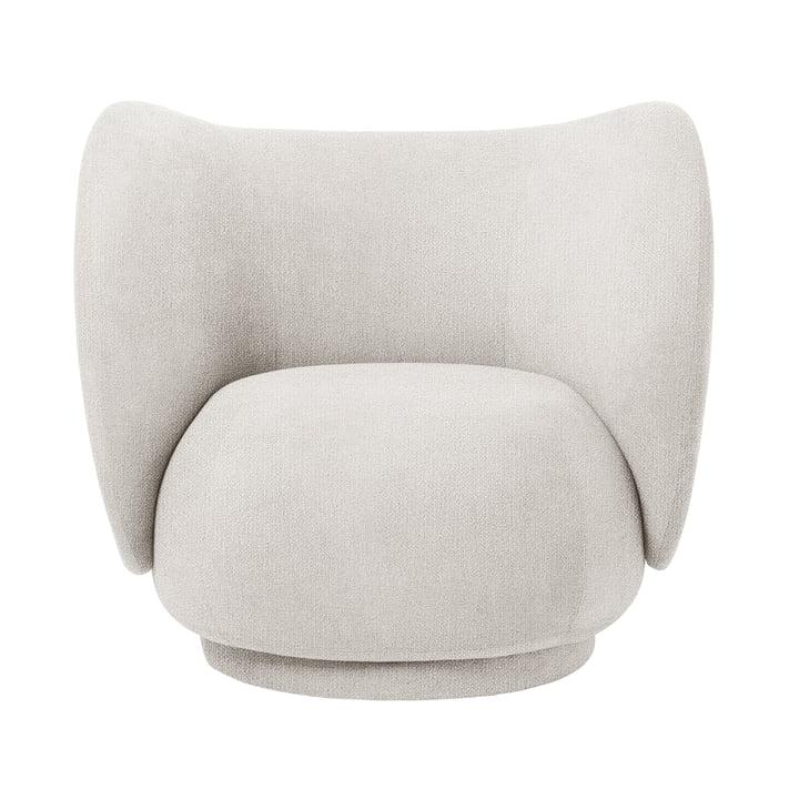 Der Rico Lounge Chair von ferm Living in Bouclé off-white