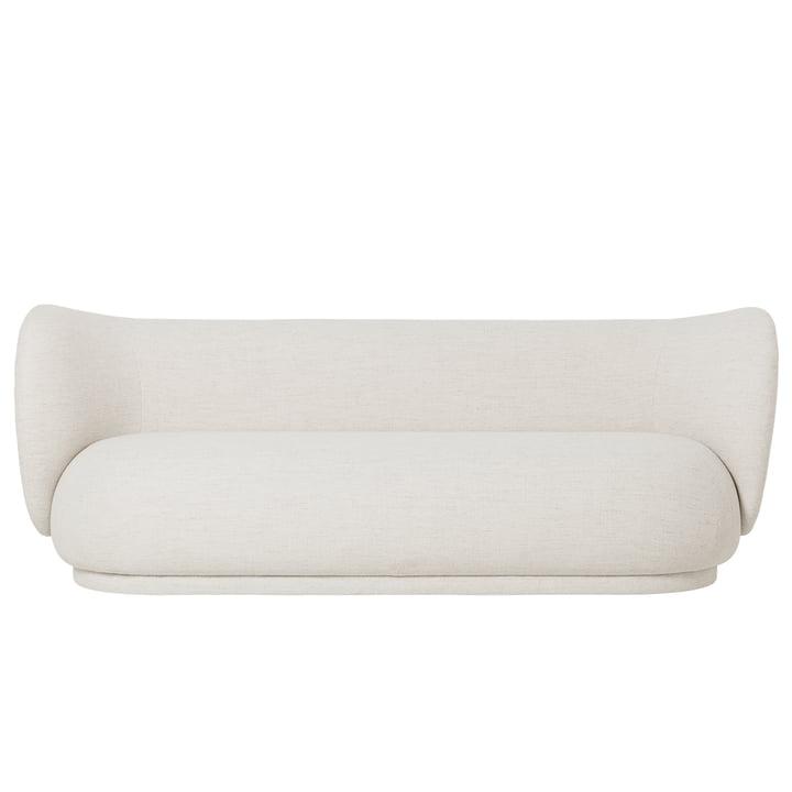 Das Rico 3-Sitzer Sofa von ferm Living in Bouclé, off-white
