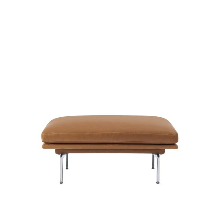 Das Outline Sofa Pouf von Muuto mit polierten Aluminium-Beinen