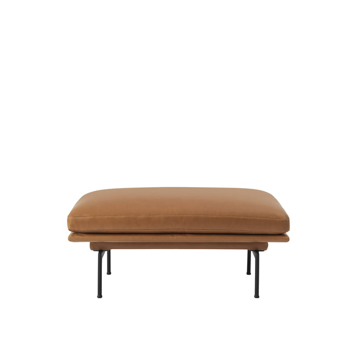 Der Outline Sofa Pouf von Muuto mit schwarzen Aluminium-Beinen