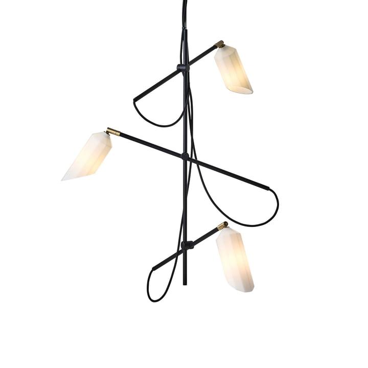 Pliverré Kronleuchter von Le Klint in schwarz / weiß