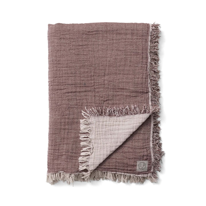 Die Collect SC33 Tagesdecke von &tradition in cloud / burgundy