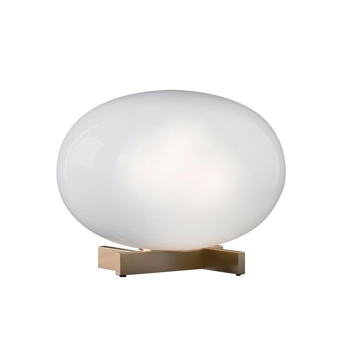 Alba Tischleuchte 265, Opalglas / Messing von Oluce