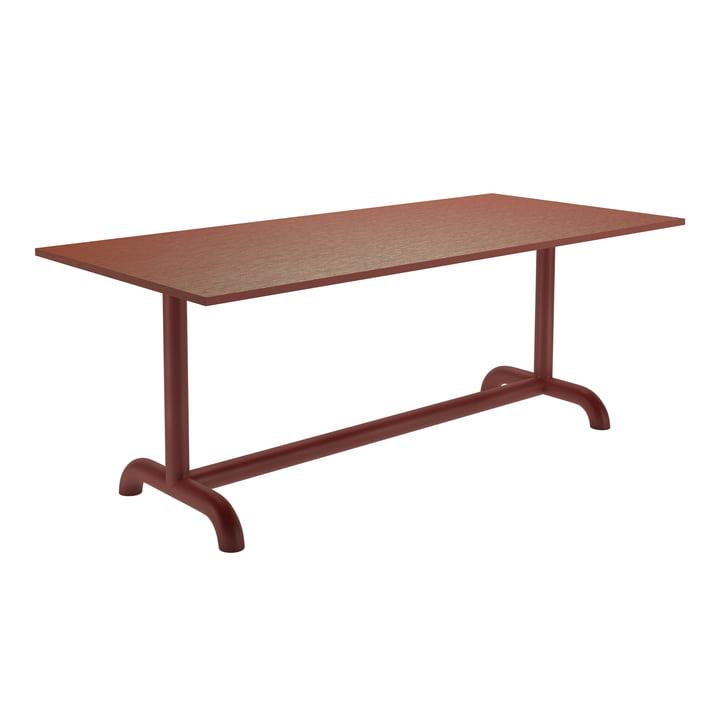 Der Unify Esstisch von Petite Friture, 90 x 200 cm, rotbraun