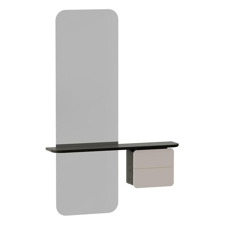 Der One More Look Spiegel von Umage in schwarz / pearl