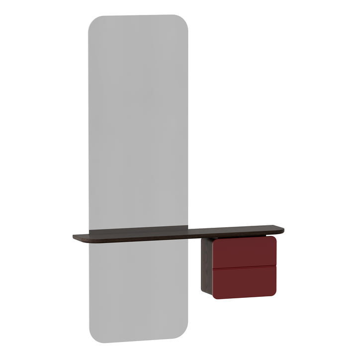 Der One More Look Spiegel von Umage in Eiche dunkel / ruby red