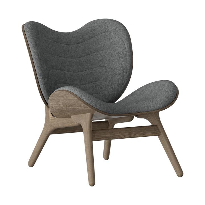 A Conversation Piece Sessel von Umage in Eiche dunkel / slate grey