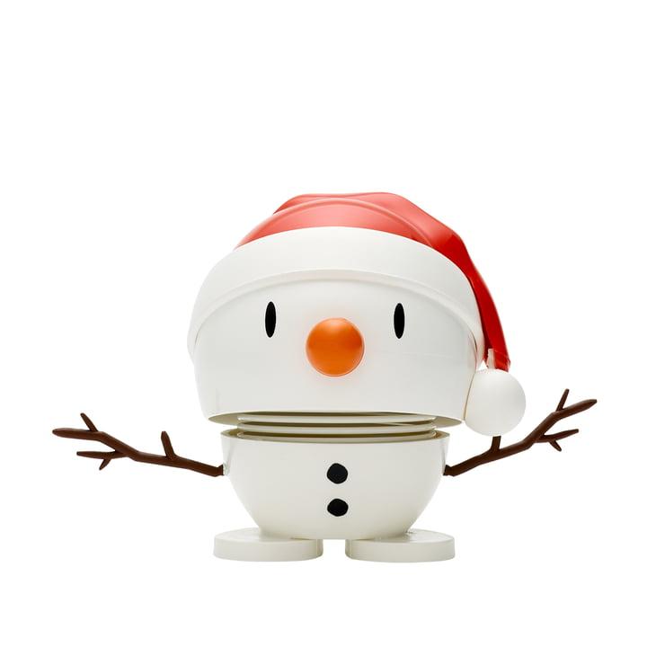 Santa Snowman, klein / weiß von Hoptimist