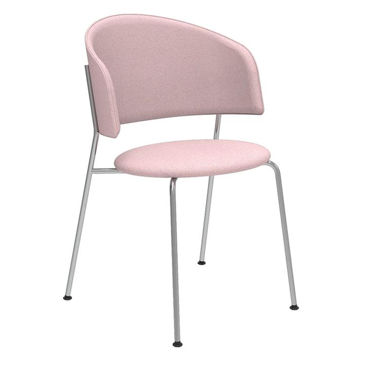Der Wagner Dining Chair von Objekte unserer Tage in Chrom / Era (rosa)