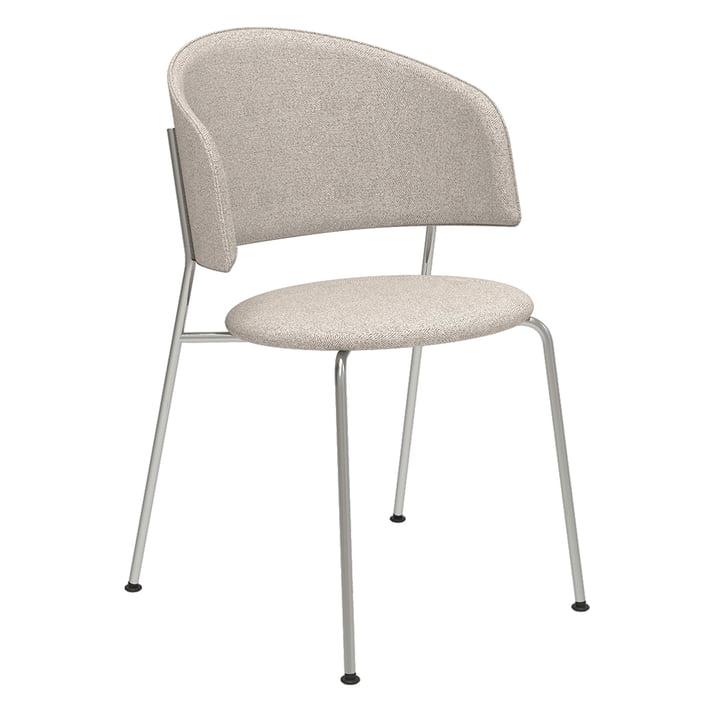 Der Wagner Dining Chair von Objekte unserer Tage in Chrom / Mainline Flax (beige)