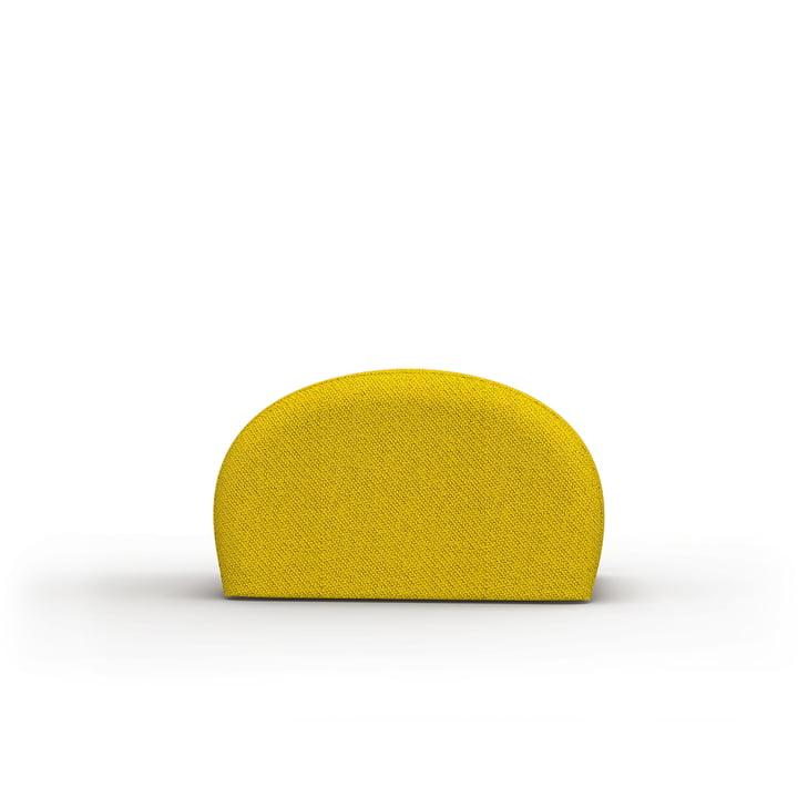 Der Levi Pouf von Objekte unserer Tage in gelb-schwarz, Kvadrat Coda 2
