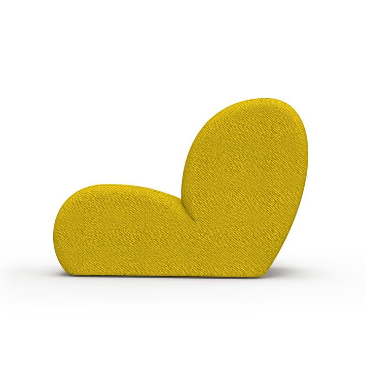 Der Levi Loungesessel von Objekte unserer Tage in gelb-schwarz, Kvadrat Coda 2