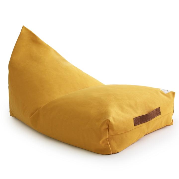 Der Oasis Kinder-Sitzsack von Nobodinoz in farniente yellow