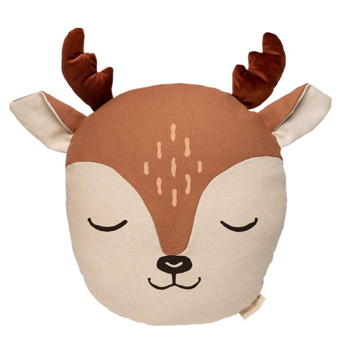 Das Deer Kissen von Nobodinoz in sienna brown