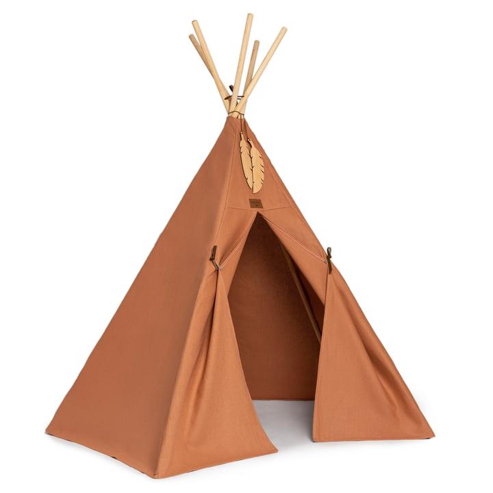 Das Nevada Tipi-Zelt von Nobodinoz in sienna brown