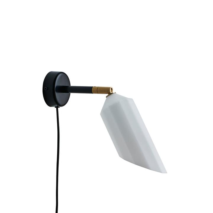 Die Pliverré Wandleuchte von Le Klint in schwarz / weiß