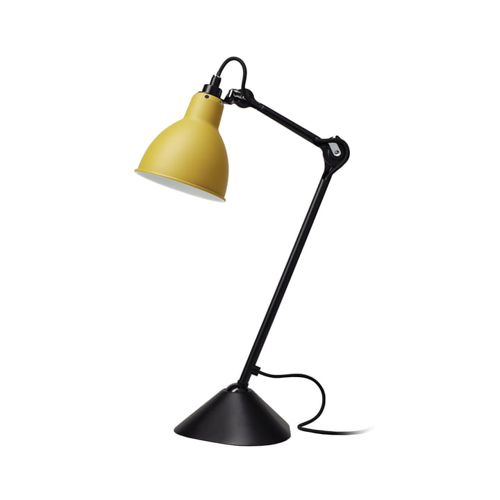 Lampe Gras No 205 Tischleuchte, schwarz / gelb von DCW