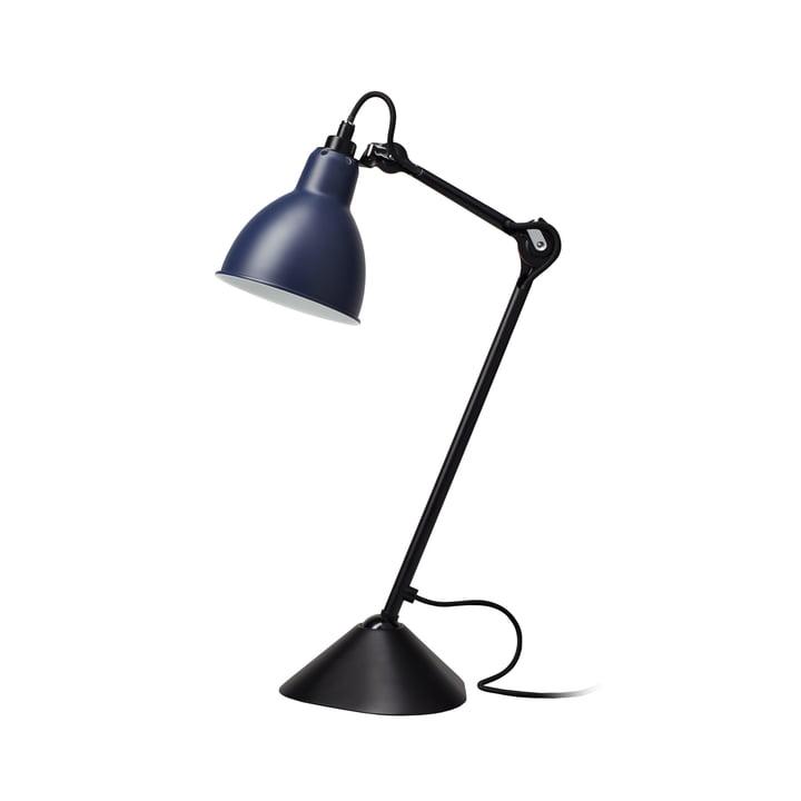 Lampe Gras No 205 Tischleuchte, schwarz / blau von DCW