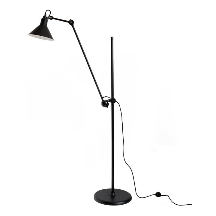 Lampe Gras No 215 Stehleuchte von DCW in schwarz / schwarz
