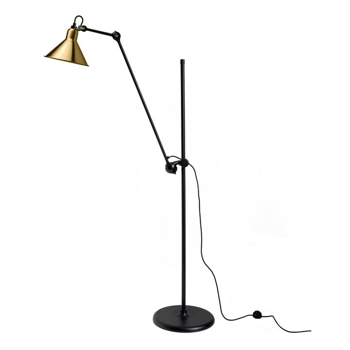 Lampe Gras No 215 Stehleuchte von DCW in schwarz / Messing