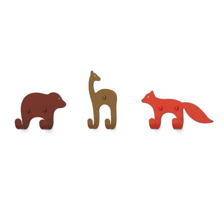 Die Wandhaken Zoo von vonbox, Forest (3er-Set)