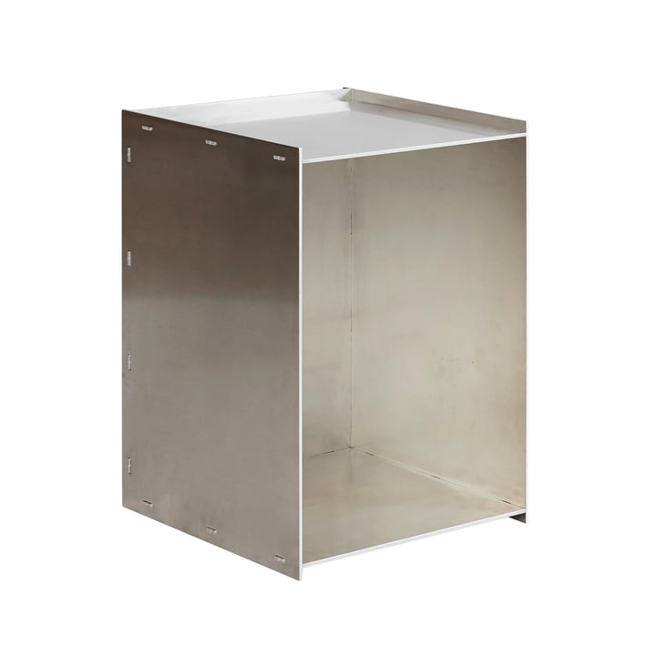 Rivet Box Beistelltisch, Aluminium von Frama