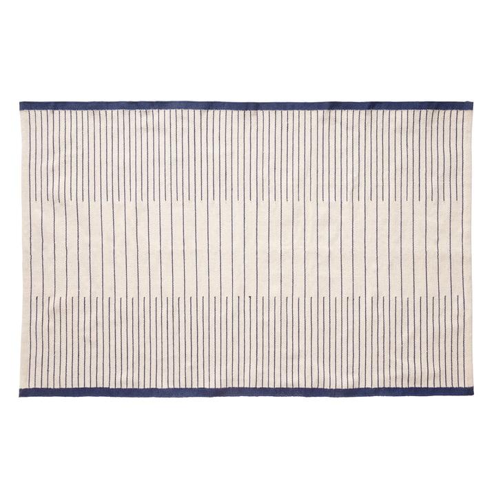 Gewebter Teppich 120 x 180 cm, blau / weiß von Hübsch Interior