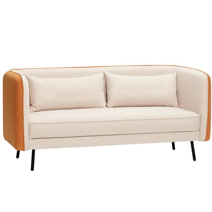 2-Sitzer Sofa, beige/orange von Hübsch Interior