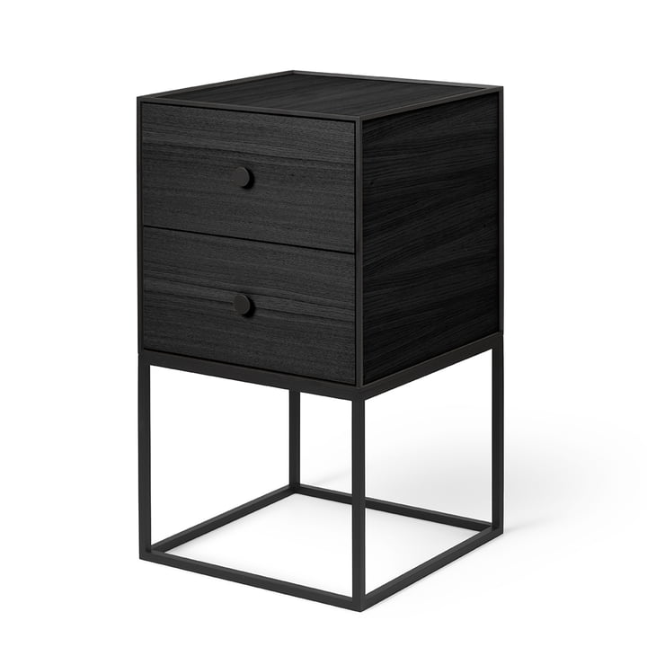 Frame Sideboard 35 (inkl. 2 Schubladen), Esche schwarz gebeizt von by Lassen