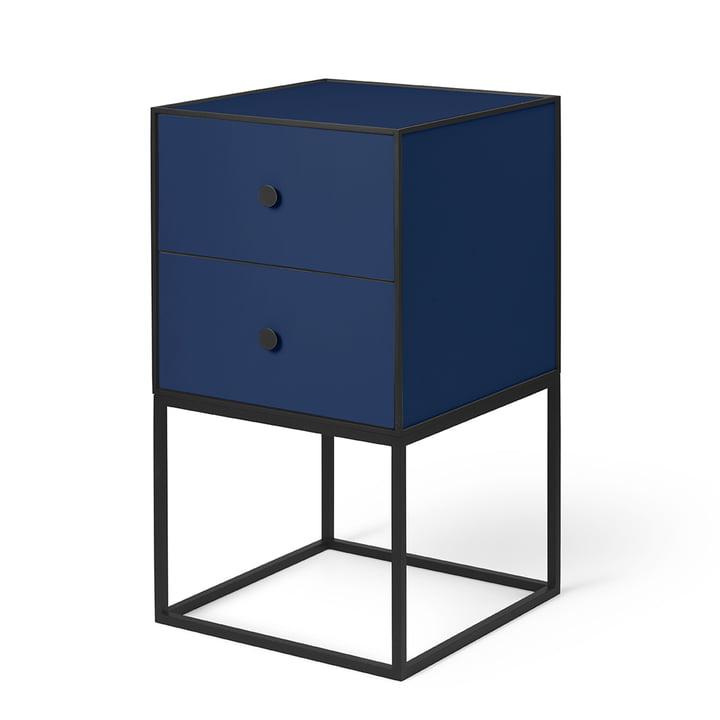 Frame Sideboard 35 (inkl. 2 Schubladen), dunkelblau von by Lassen