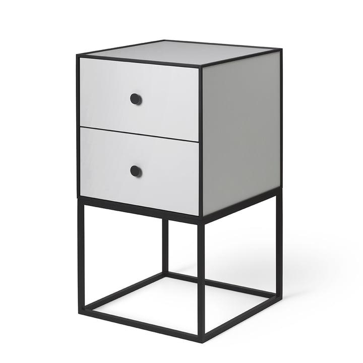 Frame Sideboard 35 (inkl. 2 Schubladen), hellgrau von by Lassen