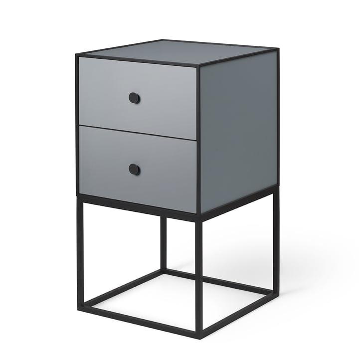 Frame Sideboard 35 (inkl. 2 Schubladen), dunkelgrau von by Lassen