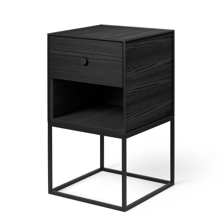 Frame Sideboard 35 (inkl. Schublade), Esche schwarz gebeizt von by Lassen