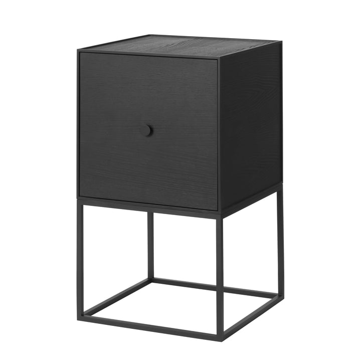 Frame Sideboard 35 (inkl. Tür), Esche schwarz gebeizt von by Lassen