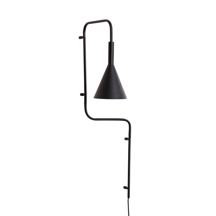 Metall Wandleuchte, schwarz, hoch von Hübsch Interior