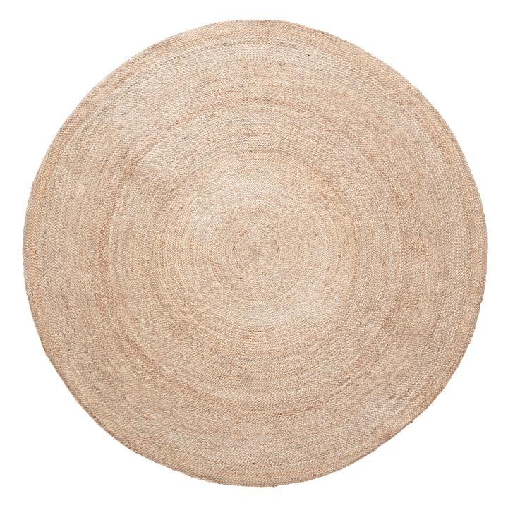 Jute Teppich, rund, Ø 150 cm von Hübsch Interior