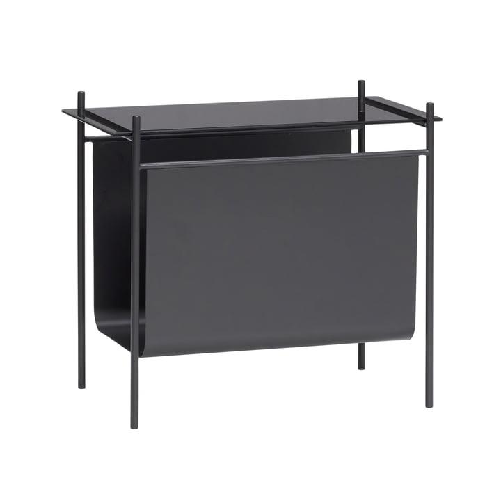 Der Tisch mit Magazinhalter von Hübsch Interior in schwarz