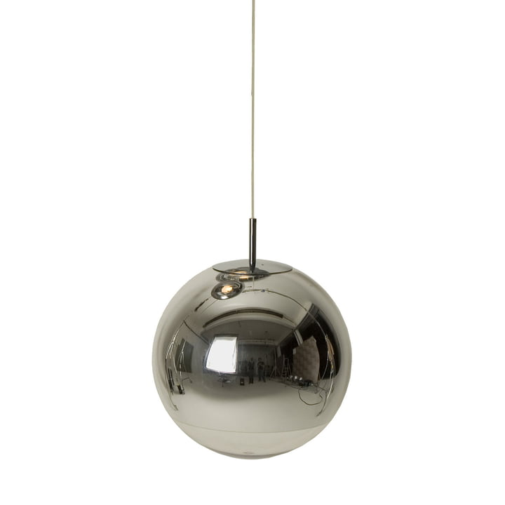 Mini Mirror Ball Chrom Pendelleuchte von Tom Dixon