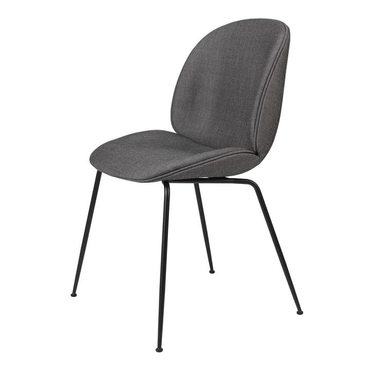 Beetle Dining Chair (gepolstert), schwarz matt / Remix, Kvadrat (152) von Gubi