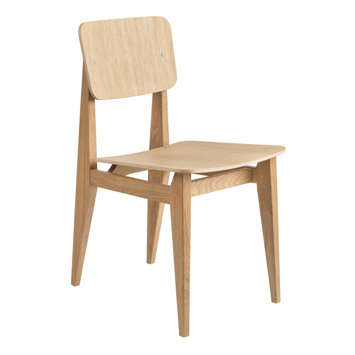 C-Chair Dining Chair Veneer, Eiche geölt von Gubi