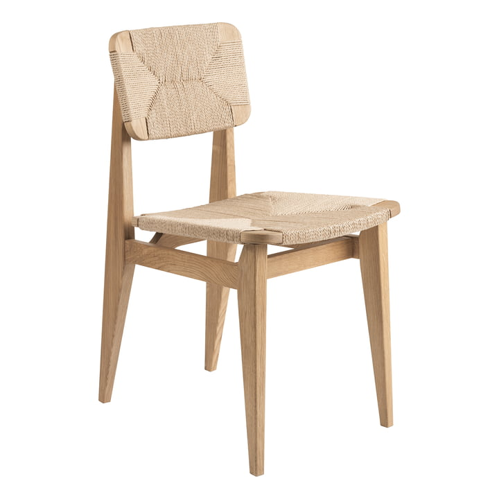 C-Chair Dining Chair Paper Cord, Eiche geölt von Gubi