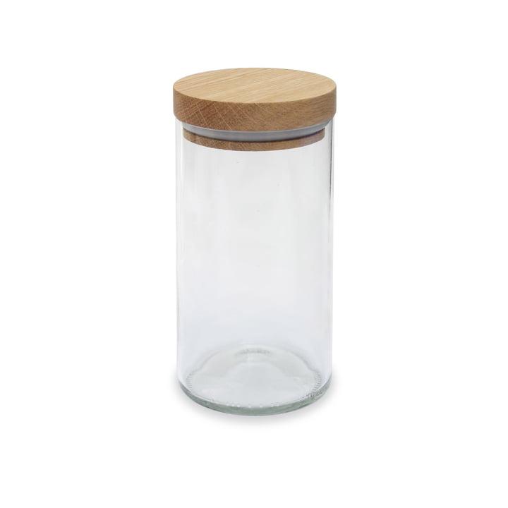 Das Vorratsglas von side by side in Eiche / klarglas, 450 ml