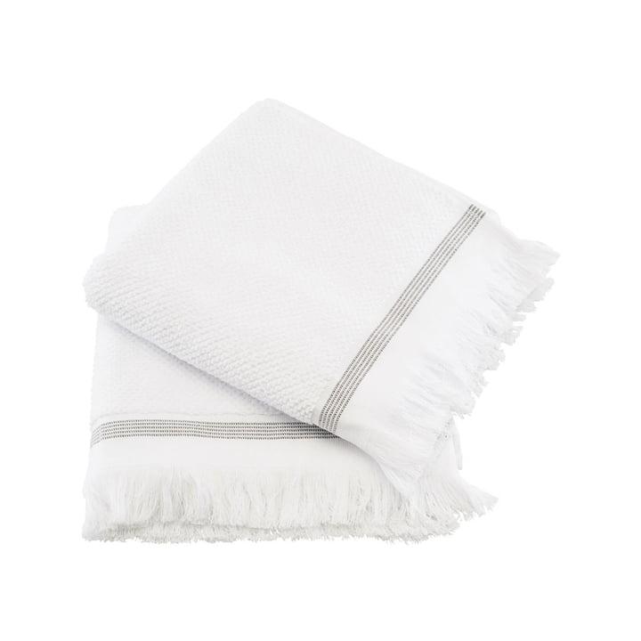 Das Handtuch gestreift von Meraki in weiß / grau, 50 x 100 cm (2er-Set)