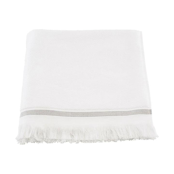 Das Handtuch gestreift von Meraki in weiß / grau, 40 x 60 cm (2er-Set)