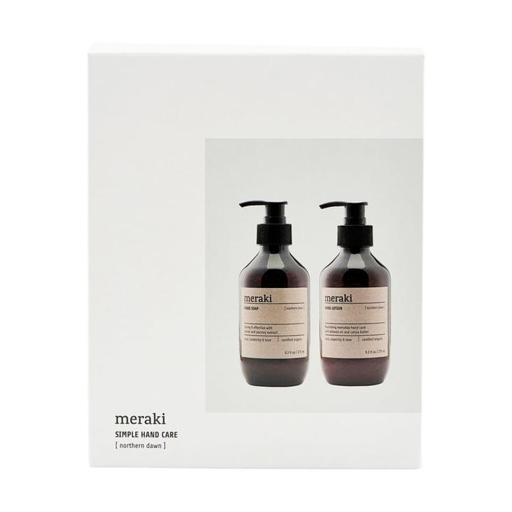 Die Geschenk-Box Northern Dawn Handseife & Handlotion von Meraki, 275 ml (2er-Set)