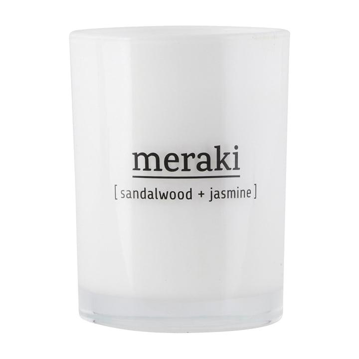Die Duftkerze Sandalwood & Jasmine von Meraki, Ø 8 cm