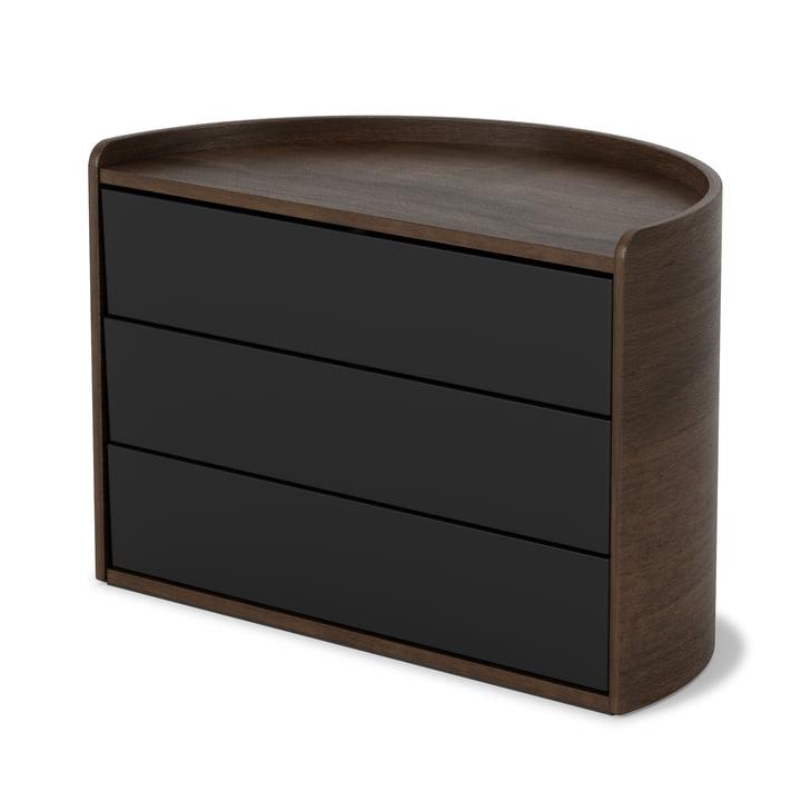 Umbra - Moona Aufbewahrungsbox, schwarz / Walnuss