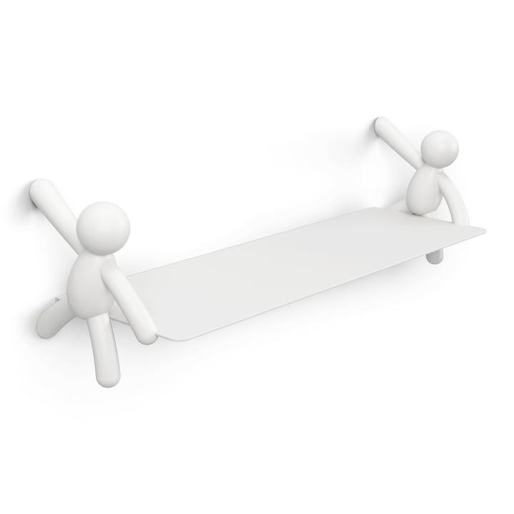 Das Buddy Wandregal von Umbra in weiß, L 46 cm