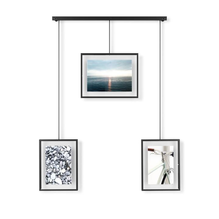 Der Exhibit Bilderrahmen von Umbra im 3er-Set, schwarz